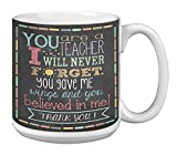 Teacher Thanks Extra Large Mug 20-Ounce Ceramic Coffee Cup, Teacher Appreciation Week Gift for End of Year (XM63219) - Tree-Free Greetings