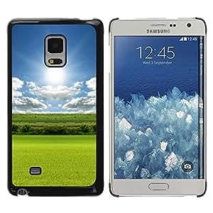 TopCaseStore / la caja del caucho duro de la cubierta de protección de la piel - Nature Field Sun - Samsung Galaxy Mega 5.8 9150 9152