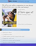 img - for iLrn , 4 terms (24 months) Printed Access Card for Caycedo Garner's Claro que si!, 7th book / textbook / text book