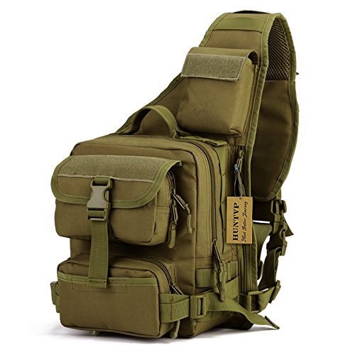 Tactical Military Sling Chest Pack Bag Molle Daypack Laptop