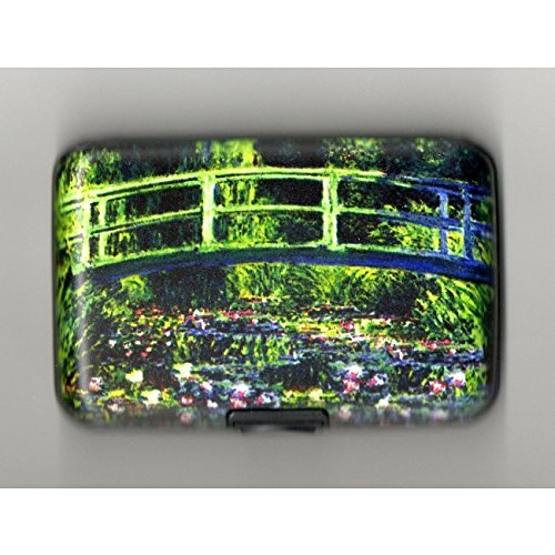 BEST MOM GIFT - HIGH QUALITY ARMORED WALLET - GREEN BRIDGE OVER STREAM - Great For Mom, Dad, Sister, Brother, Aunt, Uncle, Cousin, Grandchildren, Grandma, Grandpa, Wife, And Relatives