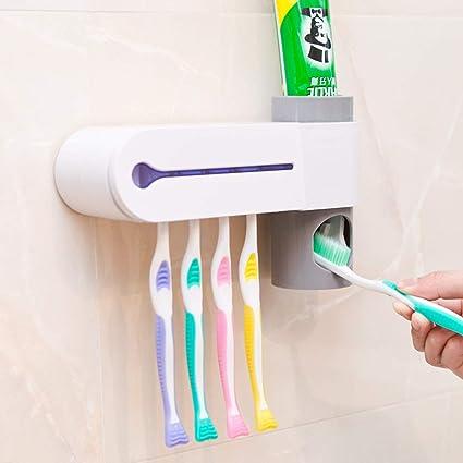 SMQ Portavasos esterilizador para cepillos de Dientes Pasta de Dientes automática Porta cepillos de Dientes Creativo