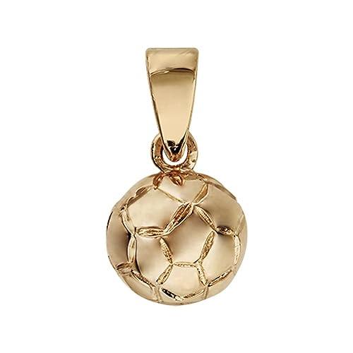 Helios Bijoux - Colgante Balón Fútbol + cadena 50 cm - chapado en ...