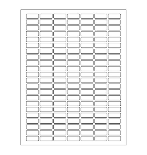 White Rectangular Labels + Bonus color labels -- Value pack -- white coding labels produce excellent results with standard laser printer-TEMPLATE included! 1138 pack