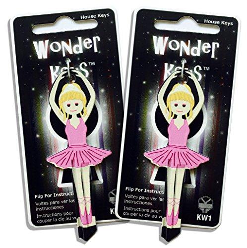 (2 Pink Dress Ballerina Shaped Wonder Keys Kwikset KW1 KW11)