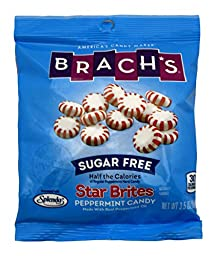 Brach\'s Sugar Free Star Brites Peppermints, 3.5-Ounce Bags (Pack of 4)
