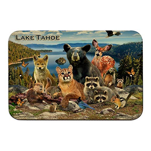 GRAPHICS & MORE Lake Tahoe California CA Nevada NV Animals Bear Cougar Deer Home Business Office Sign - Wood - 6