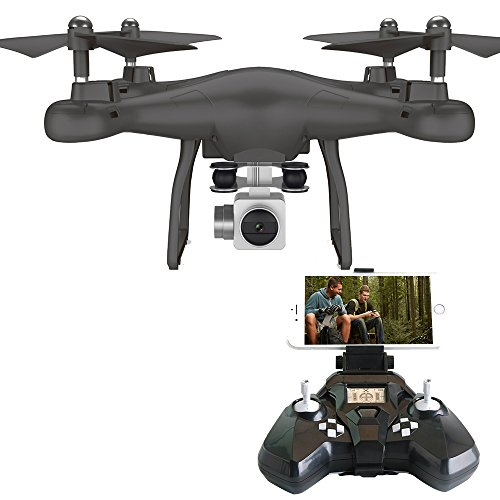 Rabing RC Drone FPV VR Wifi RC Quadcopter 2.4GHz 6-Axis Gyro Remote Control Drone with 2MP wide angle lens Camera Drone