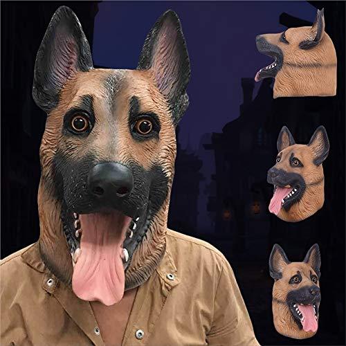 yanbirdfx Halloween Dog Latex Animal Head Toy Cosplay