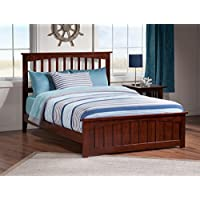 Mission Bed with Matching Foot Board, Full, Antique Walnut
