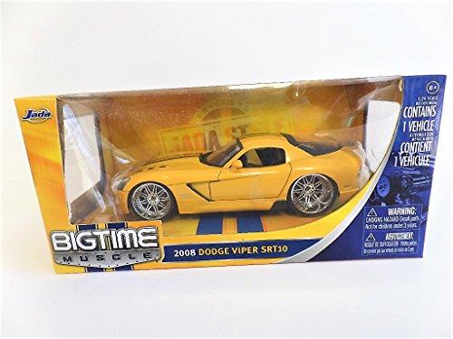 2008 Dodge Viper SRT10 Yellow Color Car Diecast 1/24 By Jada