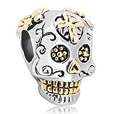 CHARMED LIFE Dia De Los Muertos Skull Charm Beads For Bracelets