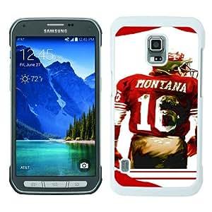 Samsung Galaxy S5 Active case,Unique Design Joe Montana White cell phone case for Samsung Galaxy S5 Active