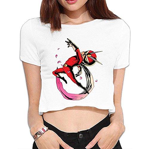 SAXON Women's Geek Viewtiful Joe Bare Midriff Sexy Sweatshirt Tops