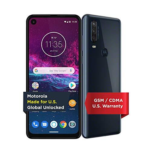 🥇 Motorola One Action with Alexa Push-to-Talk – Unlocked Smartphone – Global Version – 128GB – Denim