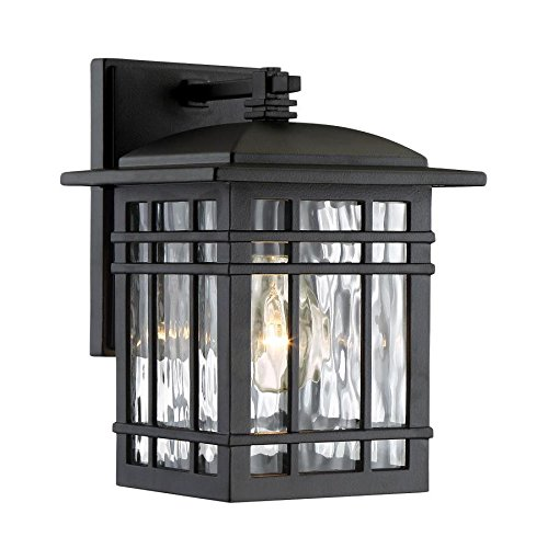 Quoizel Canyon 9.88-in H Matte Black Outdoor Wall Light Canyon View Outdoor Wall