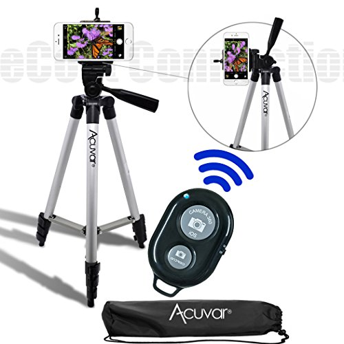 acuvar-50-inch-aluminum-camera-tripod-with-universal-smartphone-mount-bluetooth-wireless-remote-cont