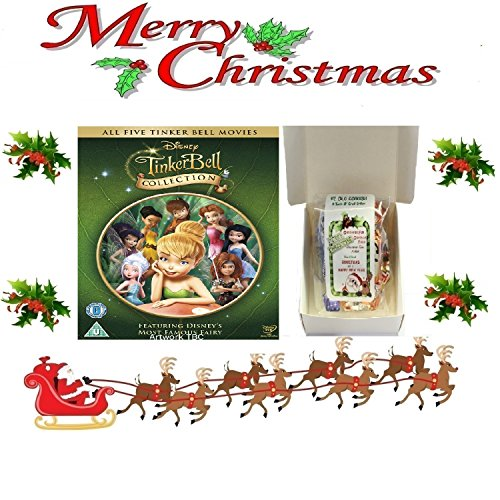 [Christmas Gift Pack - The Tinker Bell Collection - 1-5 [NON USA FORMATTED VERSION REGION 2 DVD] + Ye Old Cornish Christmas Sweets Gift] (Tinkerbell Pirate)