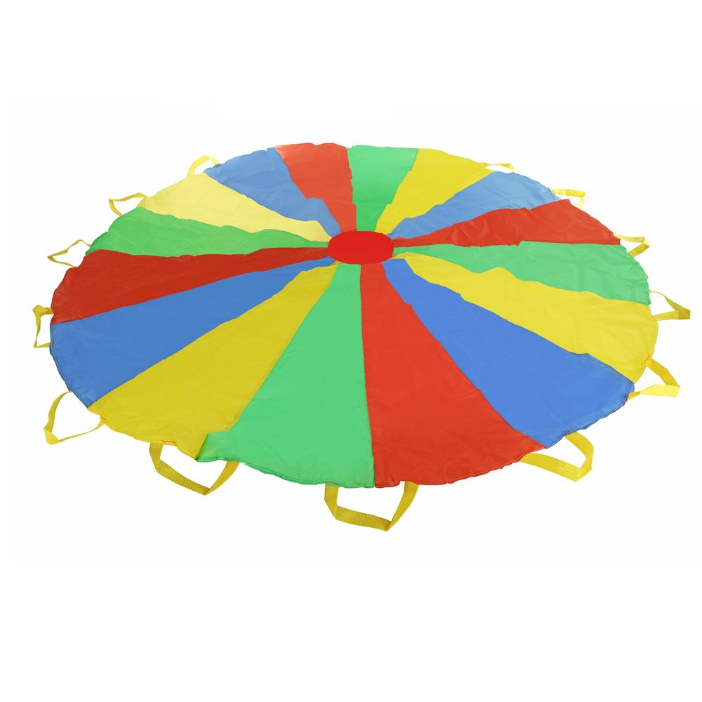 Multi-color 5 feet Parachute - Ideal Summer Sport Activity Playchute For Kids - Amazing Exerciser, Gift, Game, and more! by Toy Cubby (Image #2)