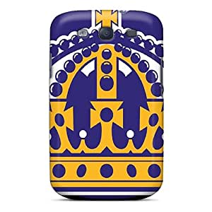 Marycase88 Samsung Galaxy S3 Protective Hard Phone Cases Allow Personal Design Attractive Los Angeles Kings Pattern [wqm17891ZAiV]