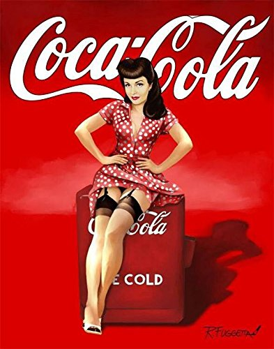 Vintage Coca Cola Pin Up Girl Nostalgia- fotos imán para nevera ...