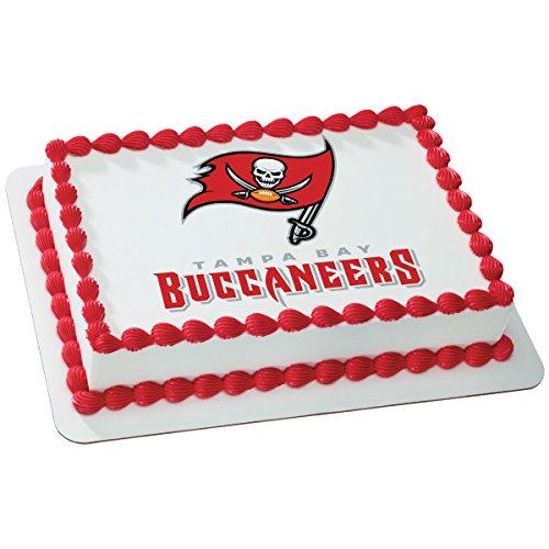 (NFL Tampa Bay Buccaneers Licensed Edible Sheet Cake Topper #4982)