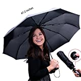 Compact Black Travel Umbrella – Durable 190T Waterproof Review and Comparison