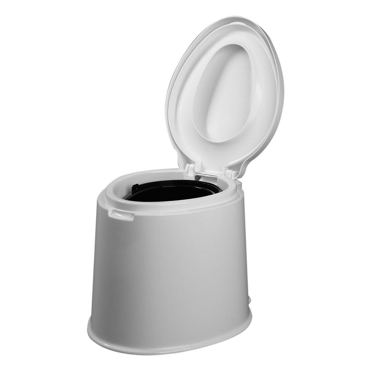 Dooret Tragbare Toilette Flush Caravan Reise Camping Wandern Outdoor Indoor Töpfchen 1,6 Gallonen 6L