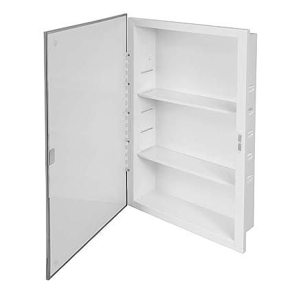 Magnificent Amazon Com Recessed Mirrored Medicine Cabinet 16 In X 26 Home Remodeling Inspirations Gresiscottssportslandcom