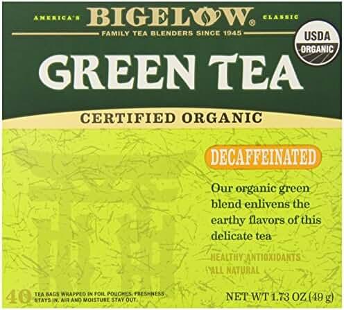 Bigelow Decaffeinated Organic Green Tea, 40 Count Box