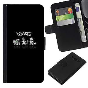 JackGot ( Empuje Monster ) Samsung Galaxy A3 la tarjeta de Crédito Slots PU Funda de cuero Monedero caso cubierta de piel