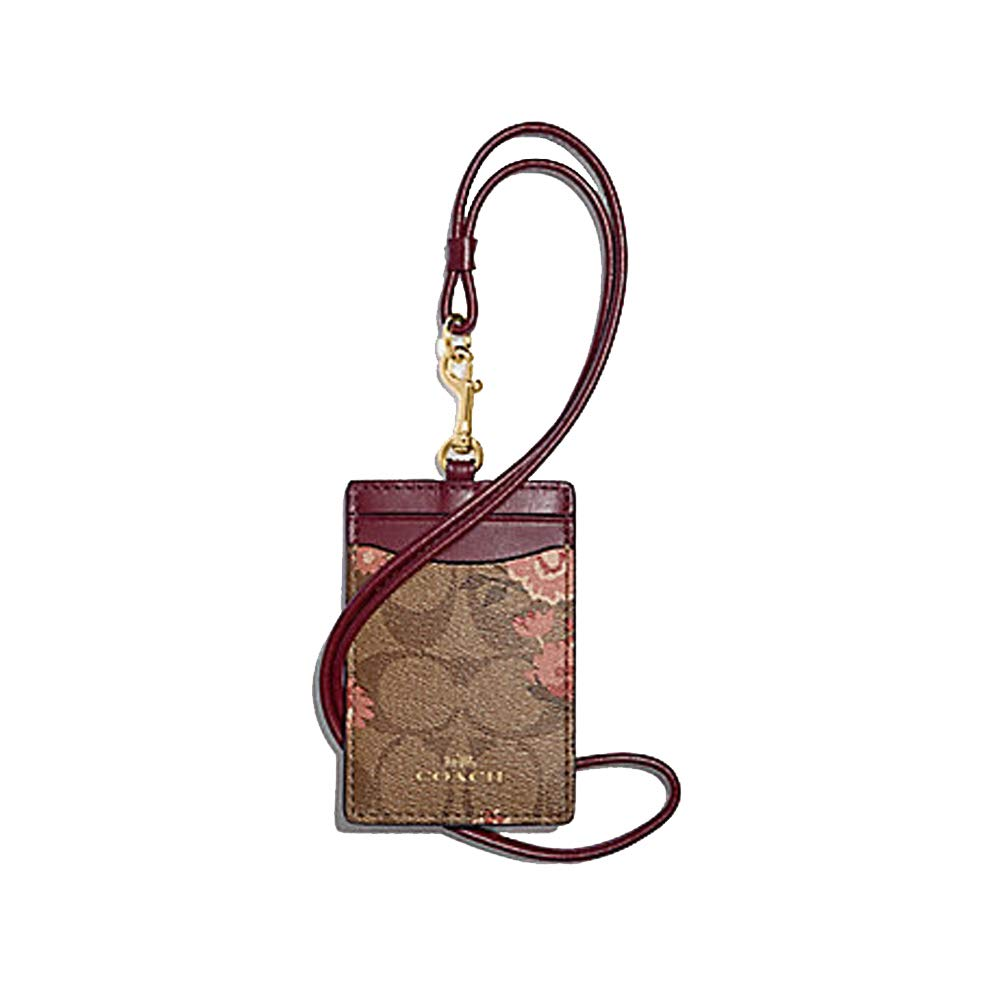 Coach Signature Daisy Leather Lanyard - #F78845 by Coach