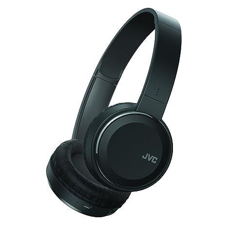 71987cb1668 Amazon.com: JVC Wireless Lightweight Flat Foldable On Ear Bluetooth Wireless  Headband with Mic, Black (HAS190BTB): Electronics