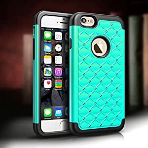 Case for iPhone 6, Tough Body Armor Protective Bling Phone Case Cover for iPhone 6 4.7''(Green)