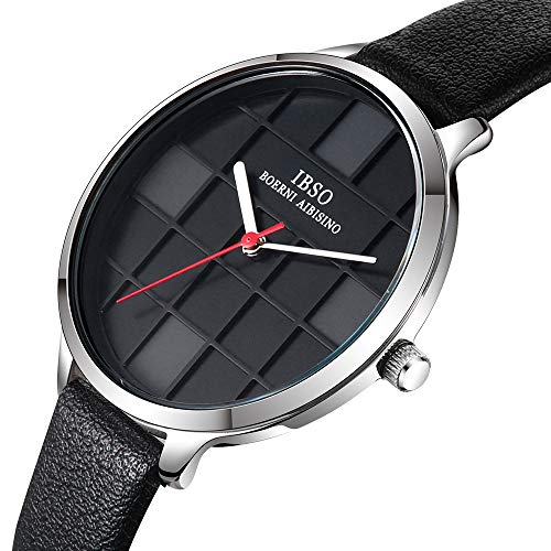 Amazon.com: IBSO Female Watches Leather Strap Round Case Analog Fashion Women Watch on Sale (6609-SR-BK): Watches