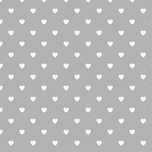 Carousel Designs Silver Gray and White Hearts Fabric by the Yard - Organic 100% Cotton by Carousel Designs