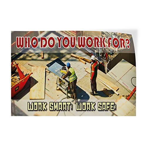 Decal Sticker Multiple Sizes Take Time to Work Safely Industrial /& Craft Safe Outdoor Store Sign Blue 69inx46in One Sticker