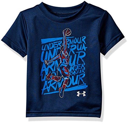 Under Armour Baby Boys Basketball Jump Short Sleeve T-Shirt, Academy, 18M