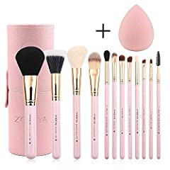 Zoreya 12pcs makeup brushes:  Made from deluxe synthetic hair, crulty free, gorgeous gifts for those who love makeup. Set Contains:   #1. Large Powder Brush  #2 .Duo Fibre Brush  #3. Angled Contour Brush #4. Foundation Brush #5.Tapered Blendi...