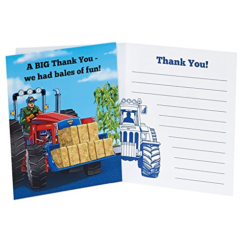 BirthdayExpress Farm Tractor Thank You Notes -