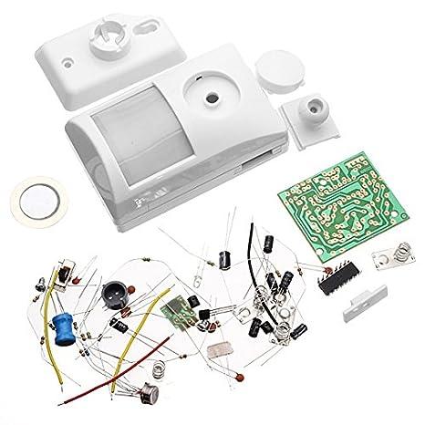 Bluelover infrarrojos Kit Alarma electrónica Kit Electrónico DIY Aprendizaje: Amazon.es: Hogar