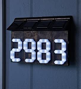 Configurable Solar House Numbers, Set of 4