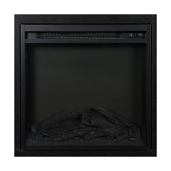 """Ameriwood Home Chicago Fireplace TV Stand for TVs up to 50"""", Black"""