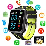 Kids Smart Watch Music - MP3 Music Player Wrist Watch Phone for Boys Girls Touch Screen LBS Tracker Pedometer FM Bluetooth SOS Remote Monitor Camera Class Mode[1GB Micro SD Included]