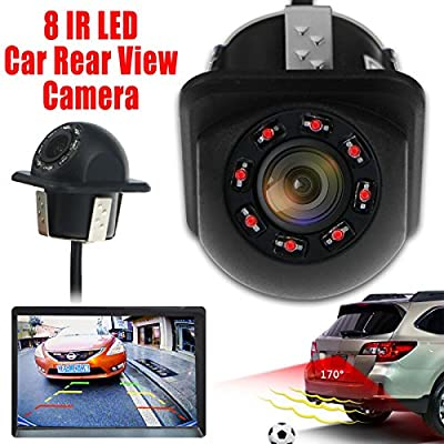 Marketworldcup-8 LED Night Vision 170° Car Rear View Waterproof Reverse Backup Parking Camera