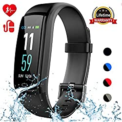 Mgaolo Fitness Tracker,Activity Health Tracker Waterproof Smart Watch Wristband with Blood Pressure Heart Rate Sleep Monitor Pedometer Step Calorie Counter for Android and iPhone(Black)