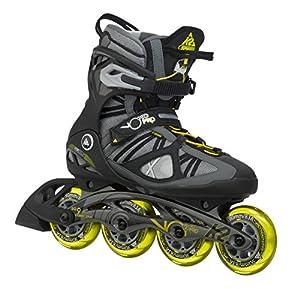 K2 Herren Inline Skate VO2 90 Pro M, Grau/Gelb, 11, 3050008.1.1.110