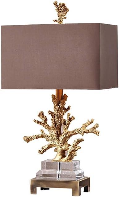 Lámpara de mesa de cristal decorativo con forma de coral ...