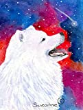 Caroline's Treasures SS8752CHF Samoyed Flag Canvas, Large, Multicolor Review