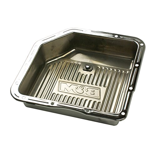 B&M 30289 Chrome Steel Extra Depth Transmission Pan
